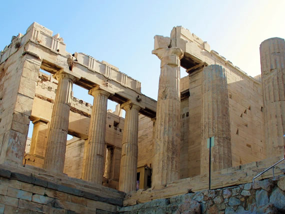 Propylaea - The entrance to the Parthenon